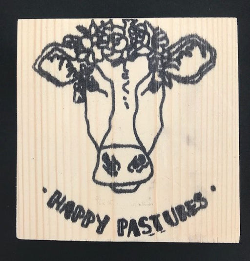 Reclaimed Wood Rubber Stamp - Happy Pastures