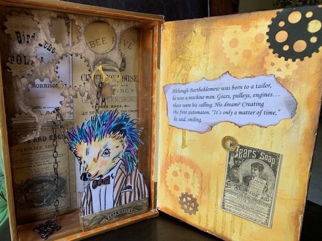 Steampunk Cigar Box Kit - Bartholomew the Hedgehog