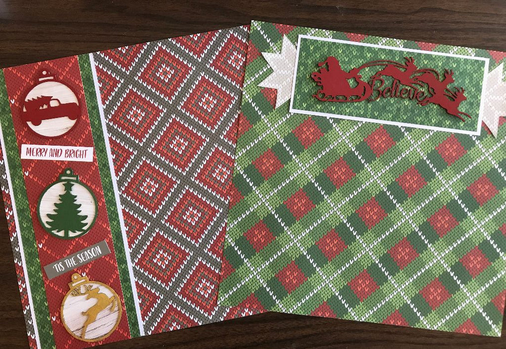 Christmas Chipboard 2 page Layout