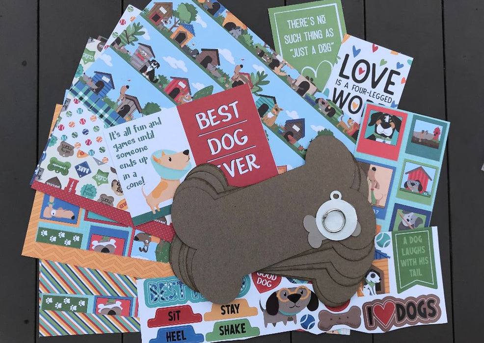 Dog Bone Chipboard Album Kit