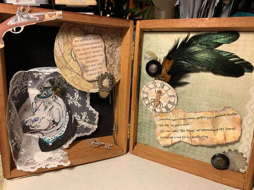 Steampunk Cigar Box kit - Clementine the Hippo