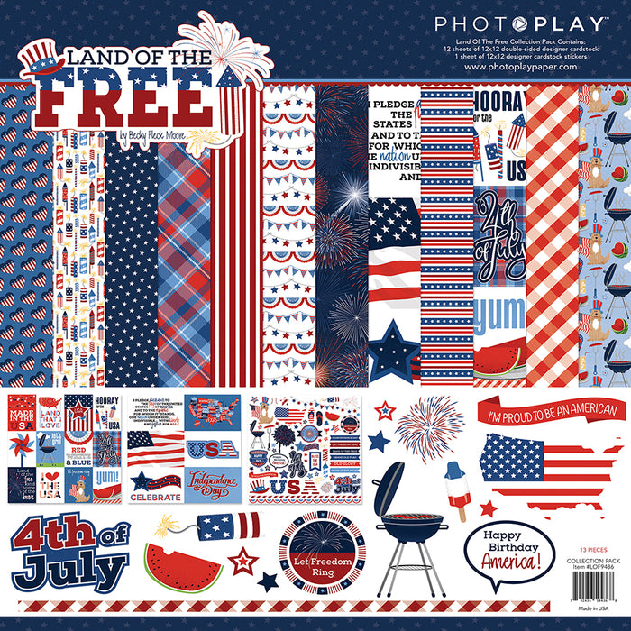 Photoplay Land of the Free 12 x 12 Collection Pack