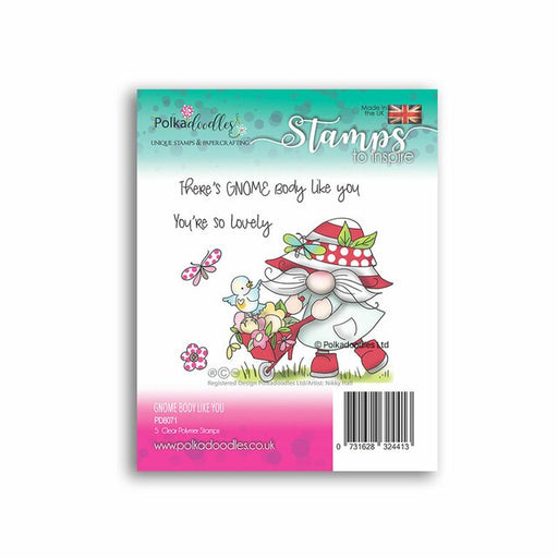 Polkadoodles There's Gnome Body Like You Clear Stamp Set