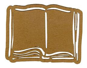 Planet Earth Mixed Media Chips - Open Book