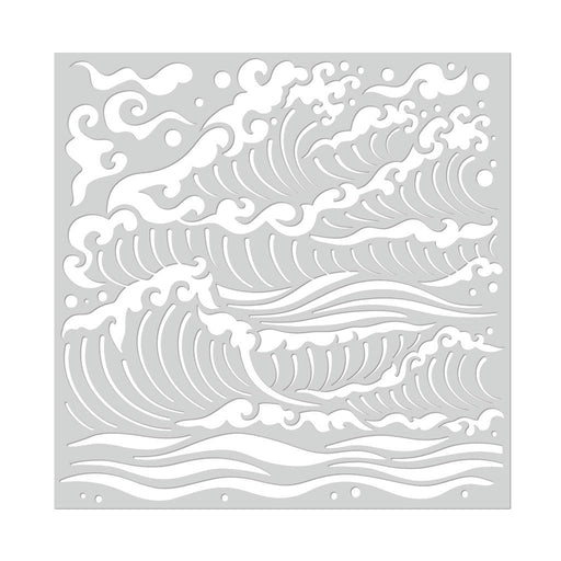 Hero Arts Mermaid Sea Waves Stencil