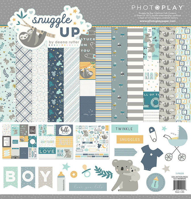 Photoplay Snuggle Up Boys 12 x 12 Collection Pack