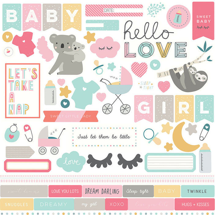 Photoplay Snuggle Up Girls 12 x 12 Collection Pack