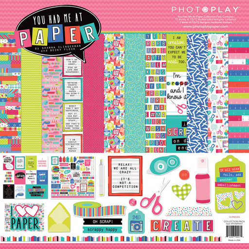 Photoplay You Had Me At Paper 12 x 12 Collection Pack