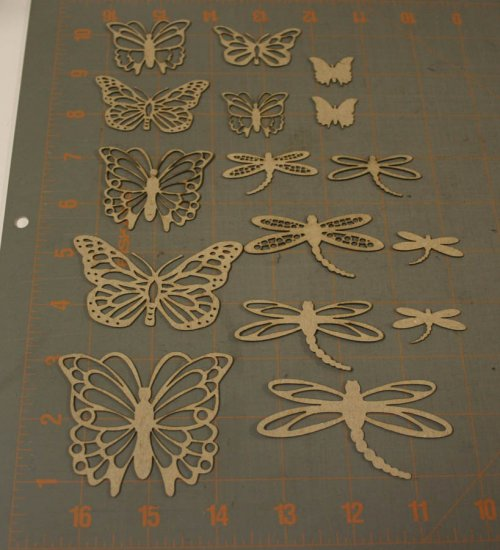 Gypsy Soul Butterflies and Dragonflies Chipboard Shapes