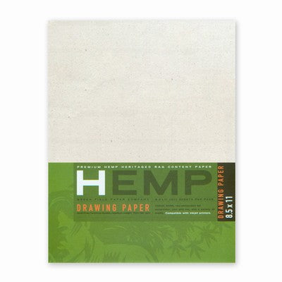 Hemp Drawing Paper Art Pack, 8.5x11