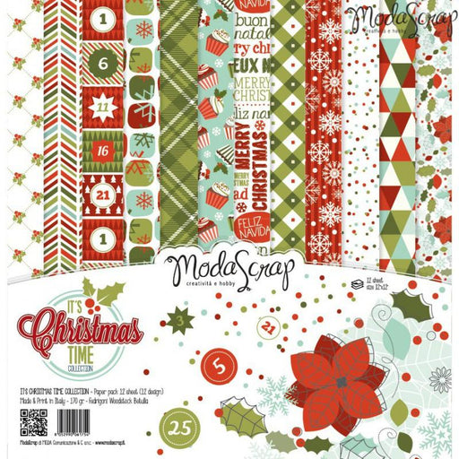 Modascrap It's Christmas Time 12 x 12 Paper Pack