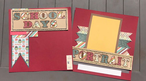 School Days 2 Page Layout Scrapbook Kit!