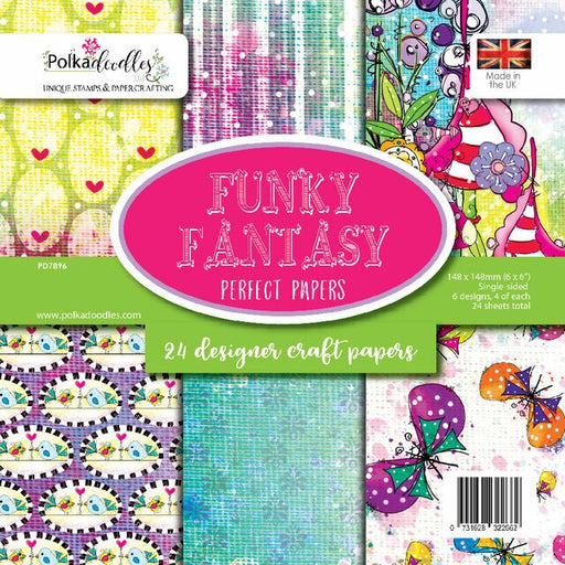 Polkadoodles Funky Fantasy 6 x 6 paper pack