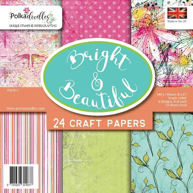 Polkadoodles Bright & Beautiful 6 x 6 paper pack