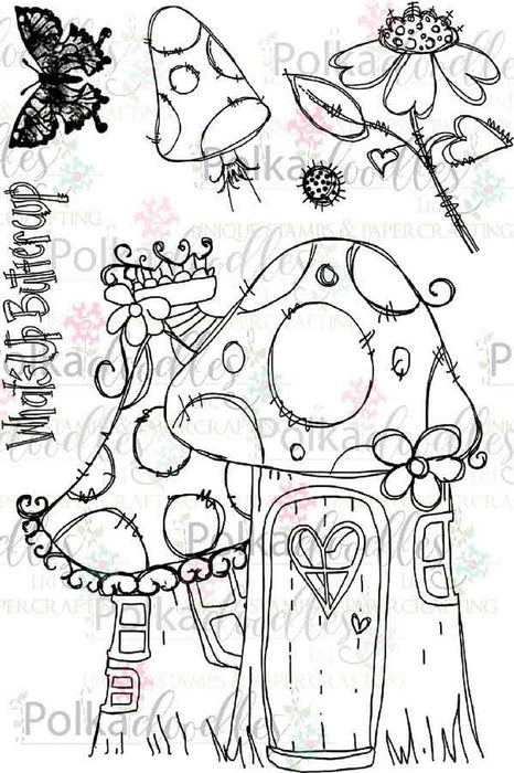 Polkadoodles What's Up Buttercup Clear Stamp Set