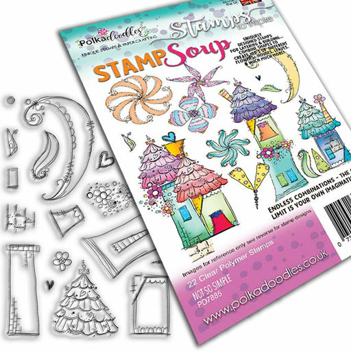 Polkadoodles Not So Simple Stamp Soup Clear Stamp Set