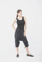 Wolf + Candor - Drop crotch pants in black