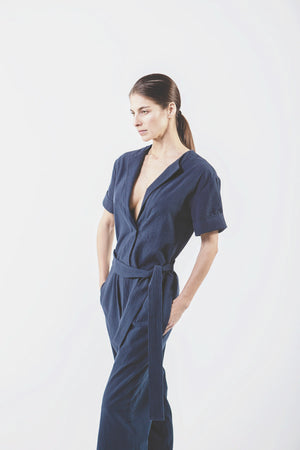 Wolf + Candor The Ford Jumpsuit in Blue