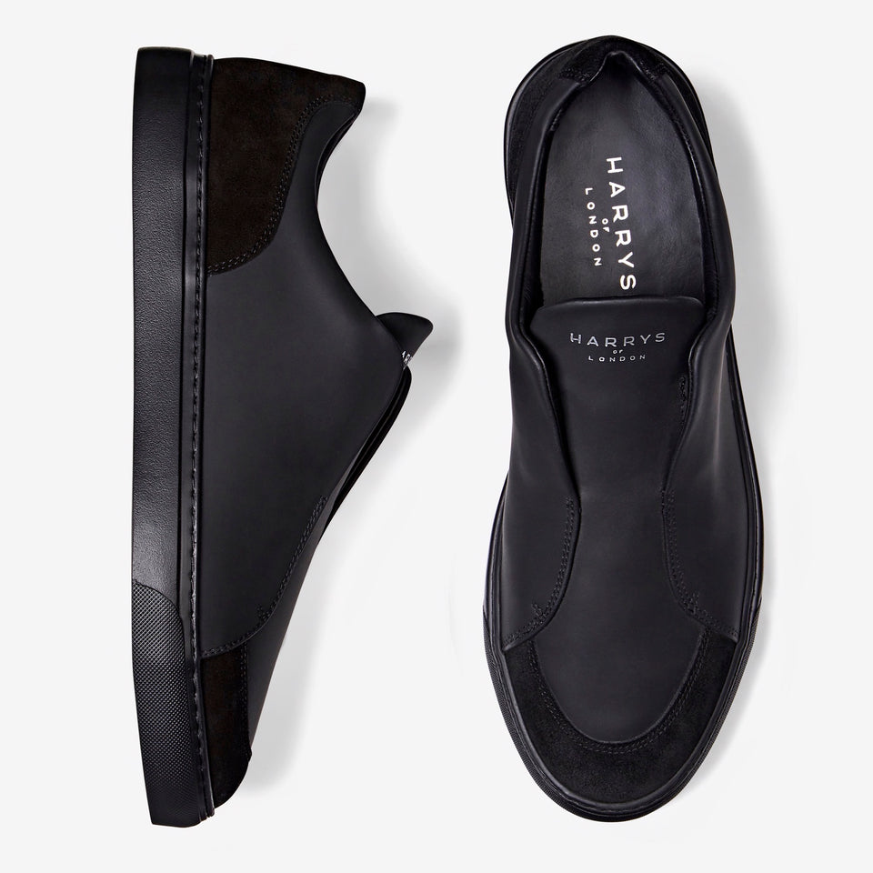 Jaunty Tech Leather/Suede Black