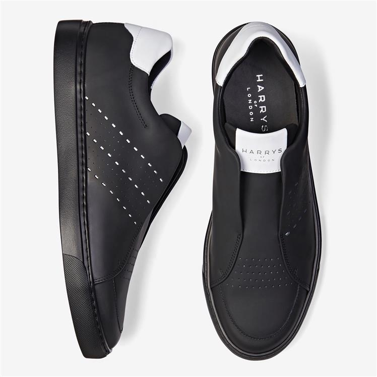 Track Tech Leather Black-White