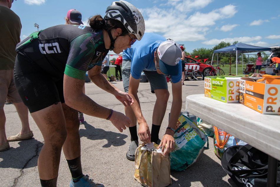 Refueling at Dirty Kanza 2018