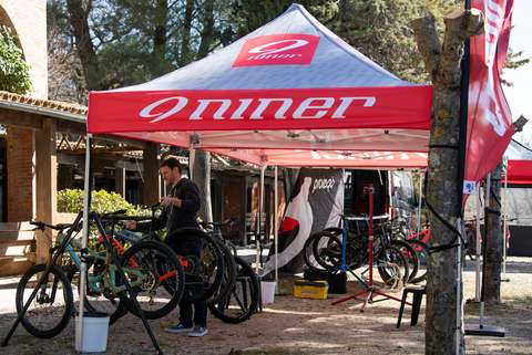 Demo Tent Mountain BIke Niner Bikes
