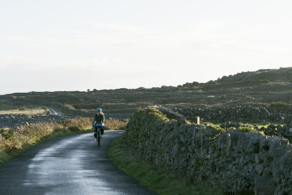 Country road cycling