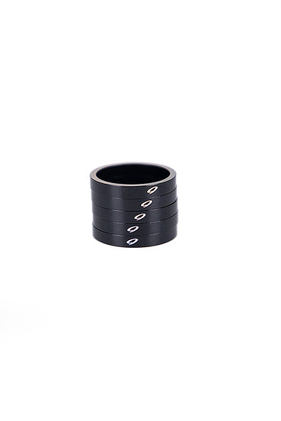 Niner Headset Spacer Kit Black - 5pcs x 5mm