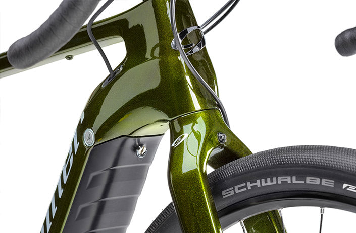 Close up on the frame of the AIR 9 Mountain Bike