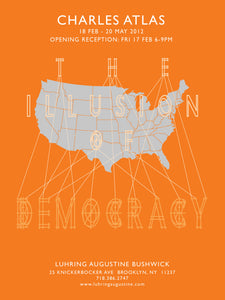 """The Illusion of Democracy"" Exhibition Poster"