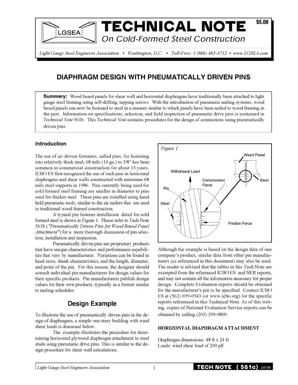 TN-561c: Diaphragm Design with Pneumatically Driven Pins