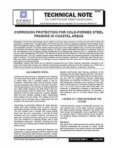 TN-D200-12 - Corrosion Protection for Cold-Formed Steel Framing in Coastal Areas