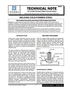 TN-F140-10: Welding Cold-Formed Steel