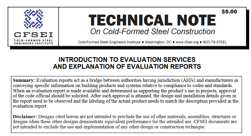 TN B006-20: Introduction to Evaluation Services and Explanation of Evaluation Reports