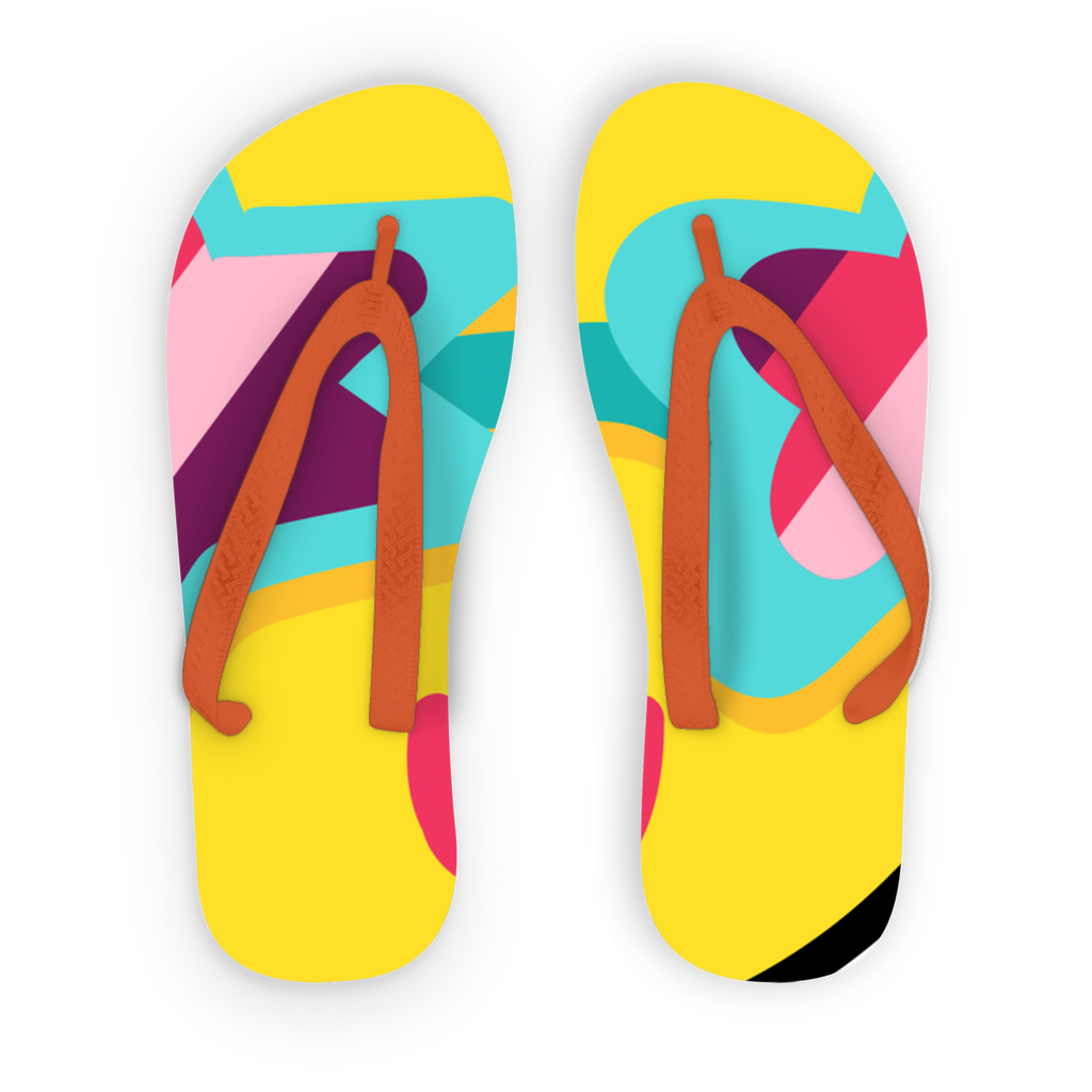 Tropical Summer Kids Flip Flops - BlackKohco
