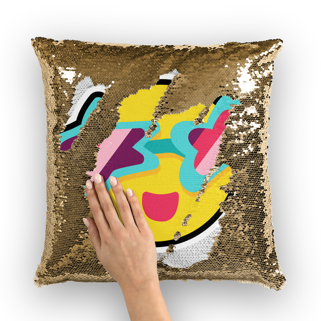 Tropical Summer Sequin Cushion Cover - BlackKohco