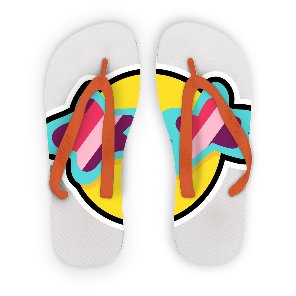 Tropical Summer Adult Flip Flops - BlackKohco