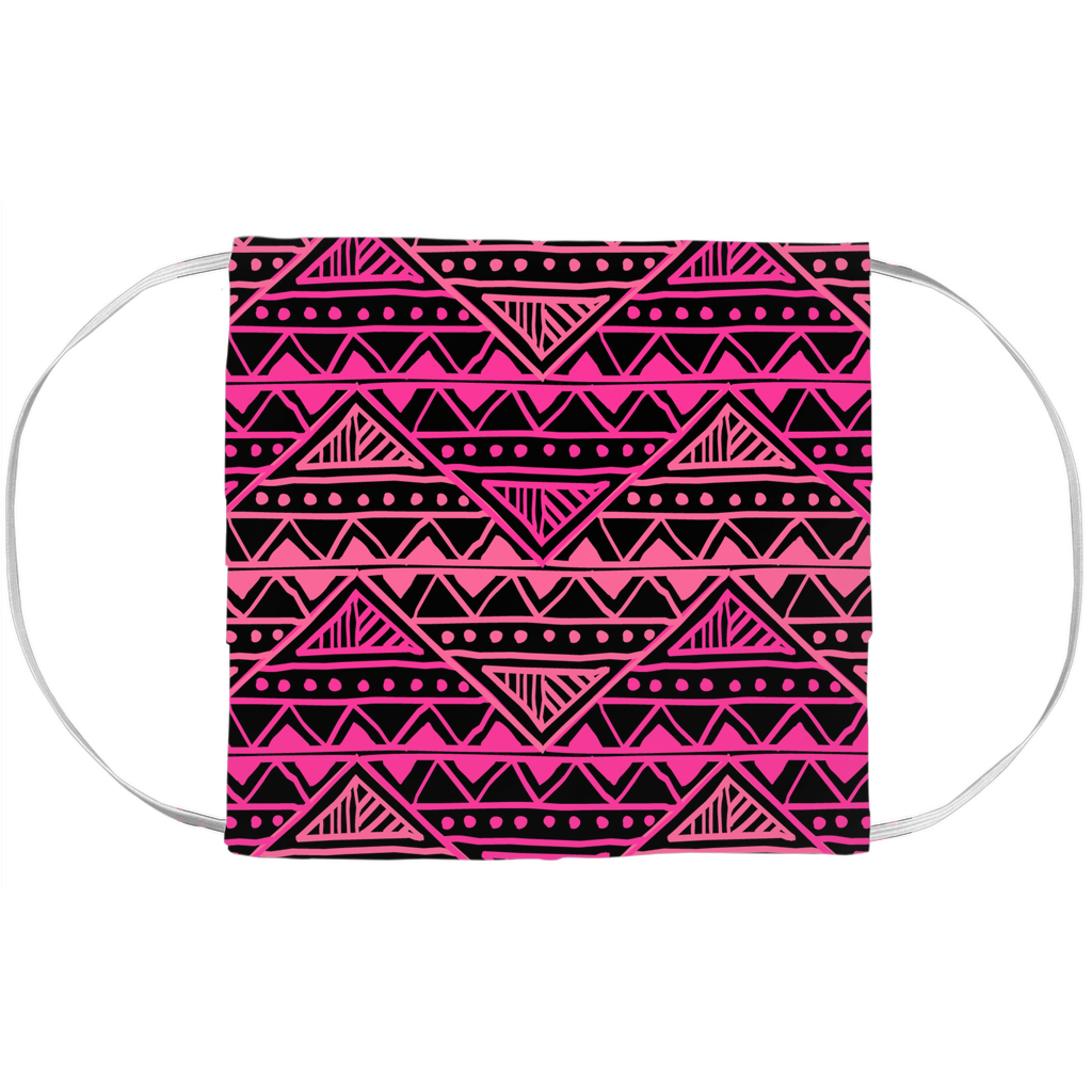 Tribal Pink Pattern Face Mask Covers - BlackKohco