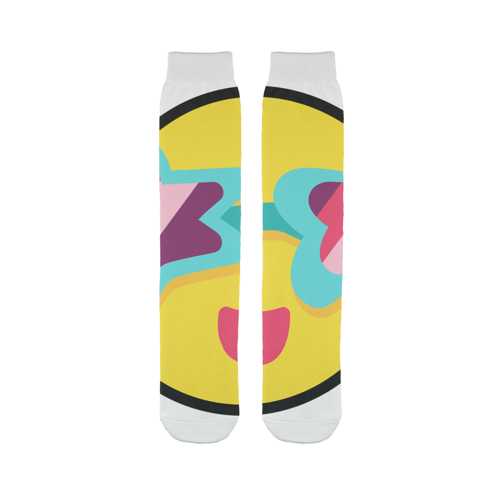Tropical Summer Sublimation Tube Sock - BlackKohco