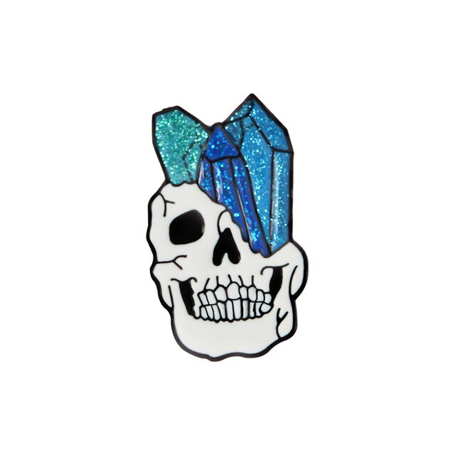 Skeleton Skull Pins Vampire Brooches Badges Halloween Jewelry Gothic Punk Dark Black Pins Collection - BlackKohco