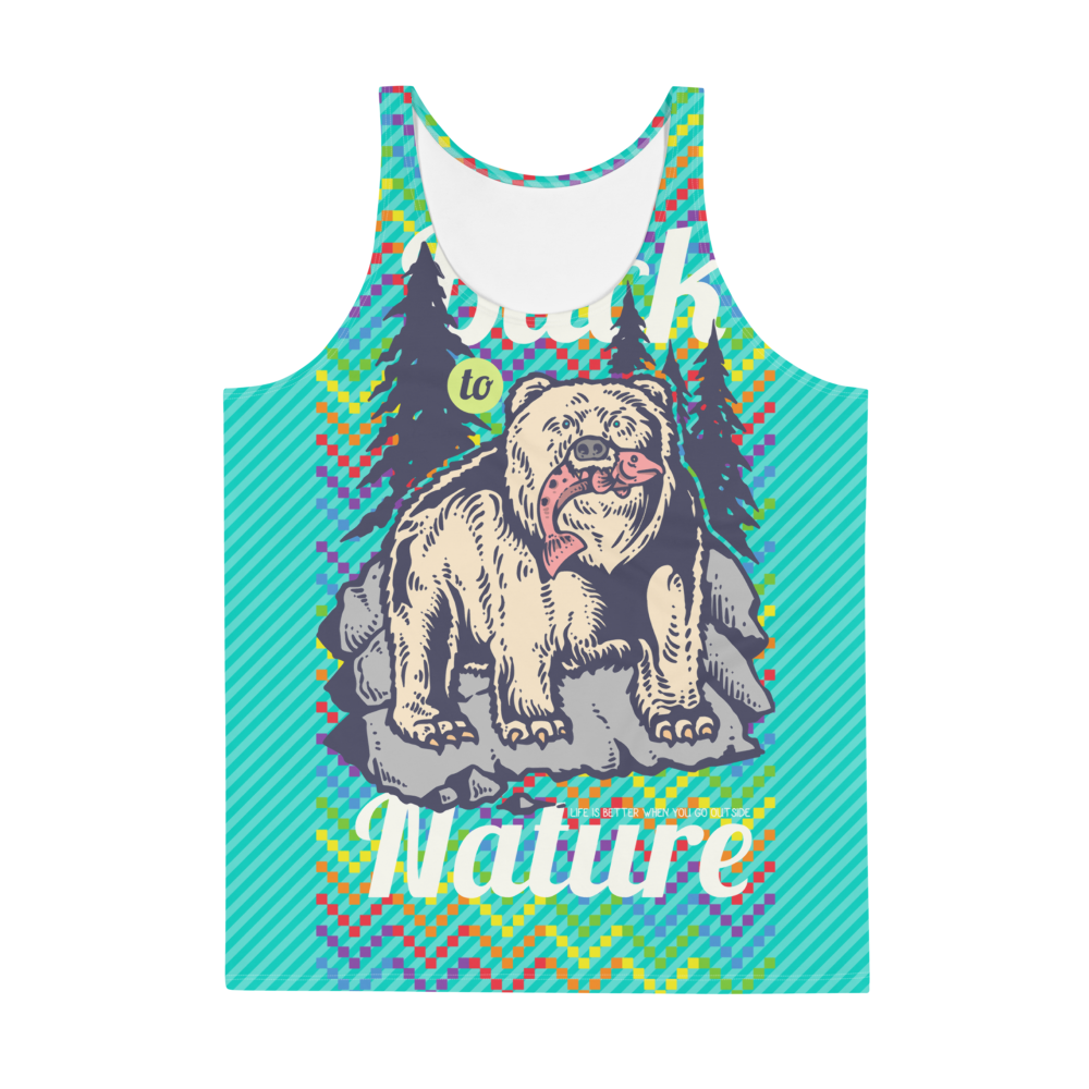 Back To Nature Unisex Tank Top