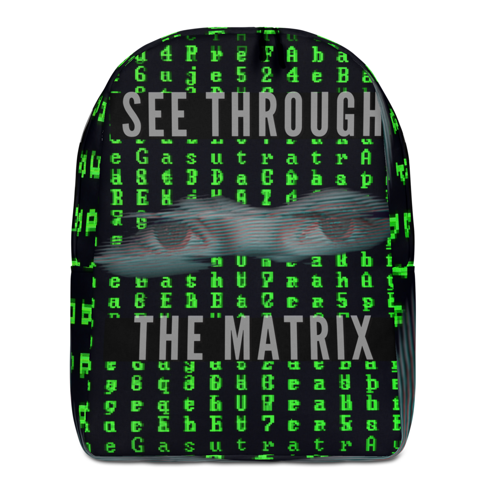 See Through The Matrix Minimalist Backpack