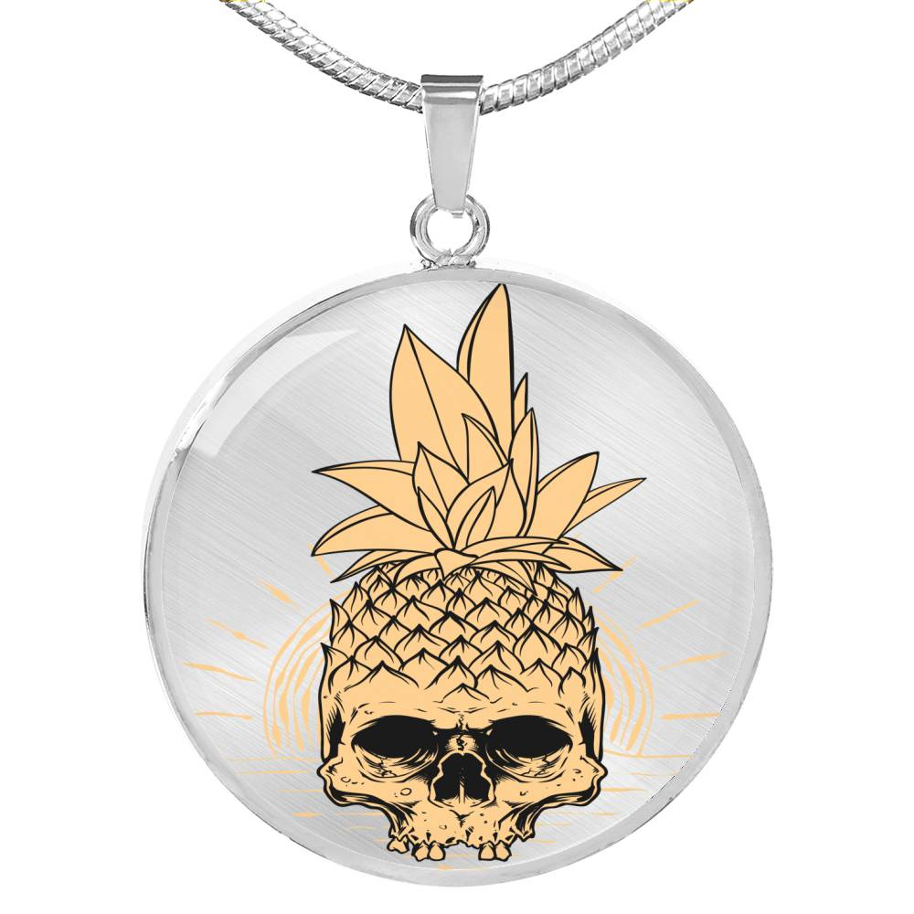 Pineapple skull Necklace - BlackKohco