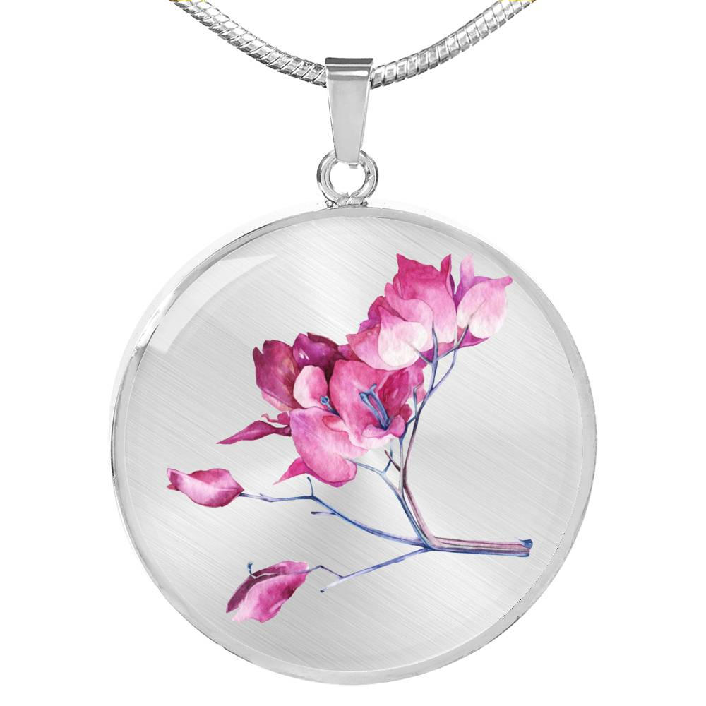 Pink blossom ranch tree Necklace