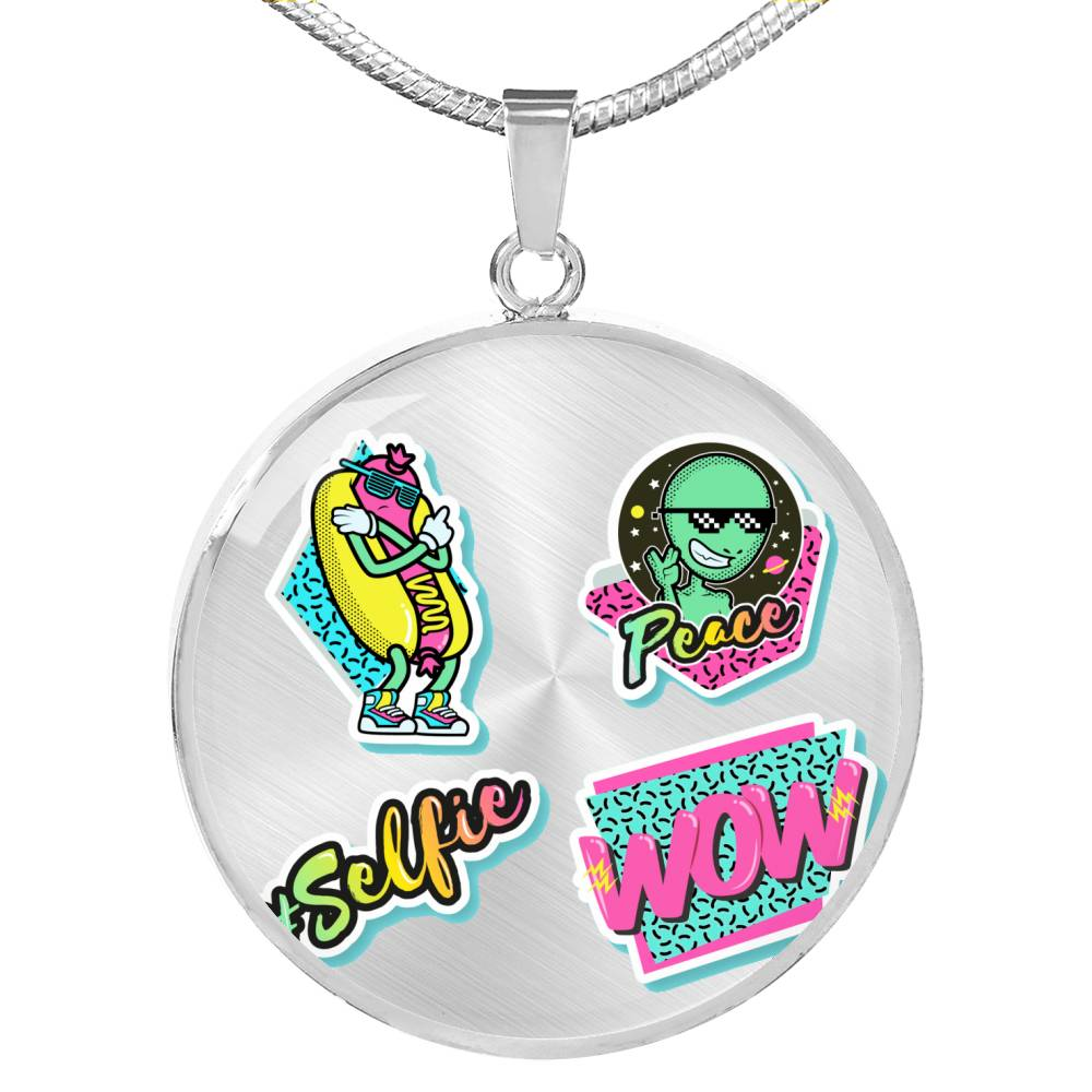 Wow selfie Necklace - BlackKohco