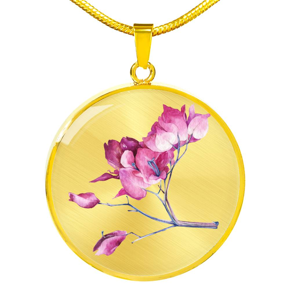Pink blossom ranch tree Necklace - BlackKohco
