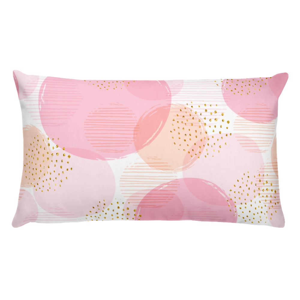 Geometric seamless pattern with circles Basic Pillow