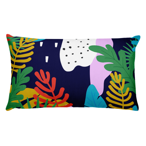 Tropical jungle leaves Basic Pillow