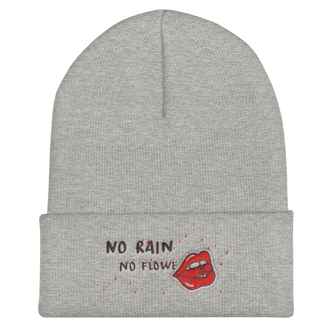 No Rain No Flowers Cuffed Beanie