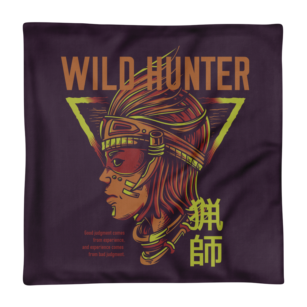 Wild Hunter Premium Pillow Case only - BlackKohco